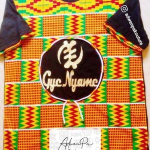 African Print Gye Nyame T-shirt
