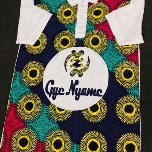African print Gye Nyame shirt