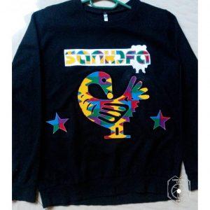 Black African print Sankofa sweatshirt