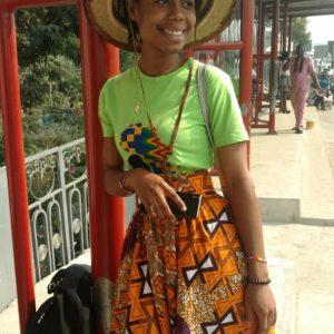 Kente Overall Skirt