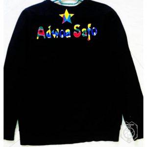 Black African print Adwoa Safo sweatshirt